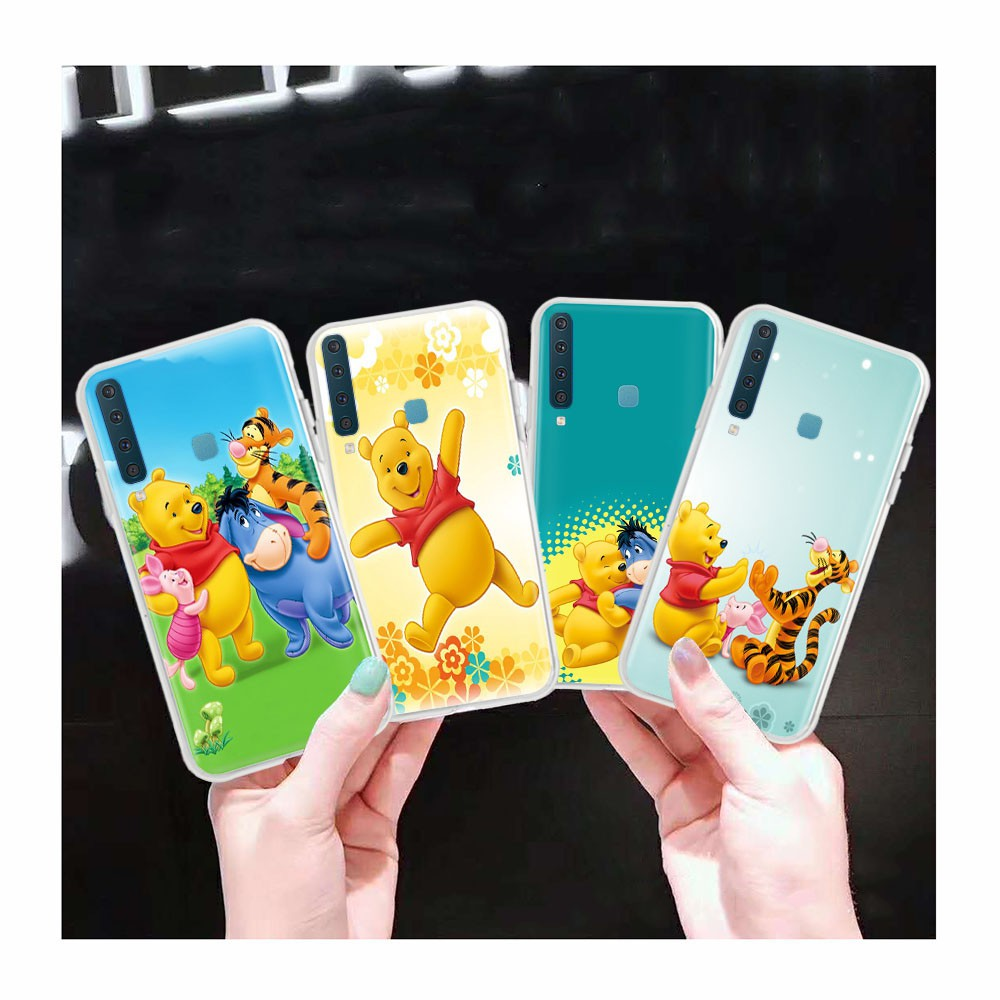 AT147 Winnie the Pooh Transparent Case for Samsung Galaxy Note 8 A6 Plus A8 Star A9 Pro