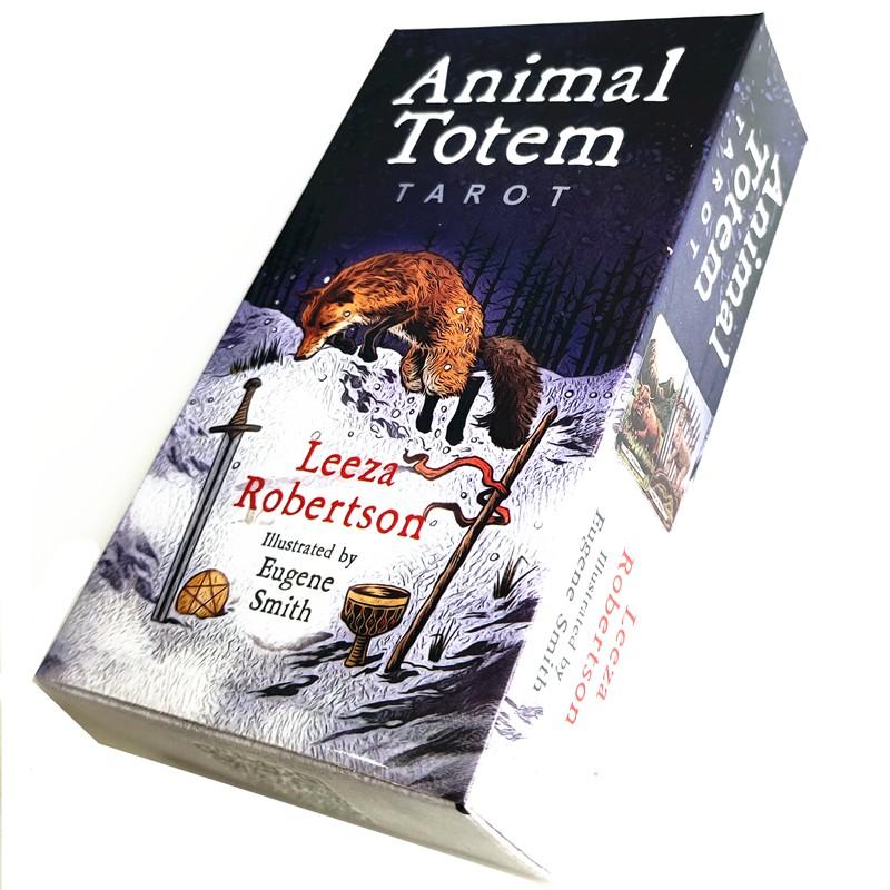 【Ready Stock】New Animal Totem Tarot Cards Funny Board Game Tarot Deck Card  Games 78 Cards