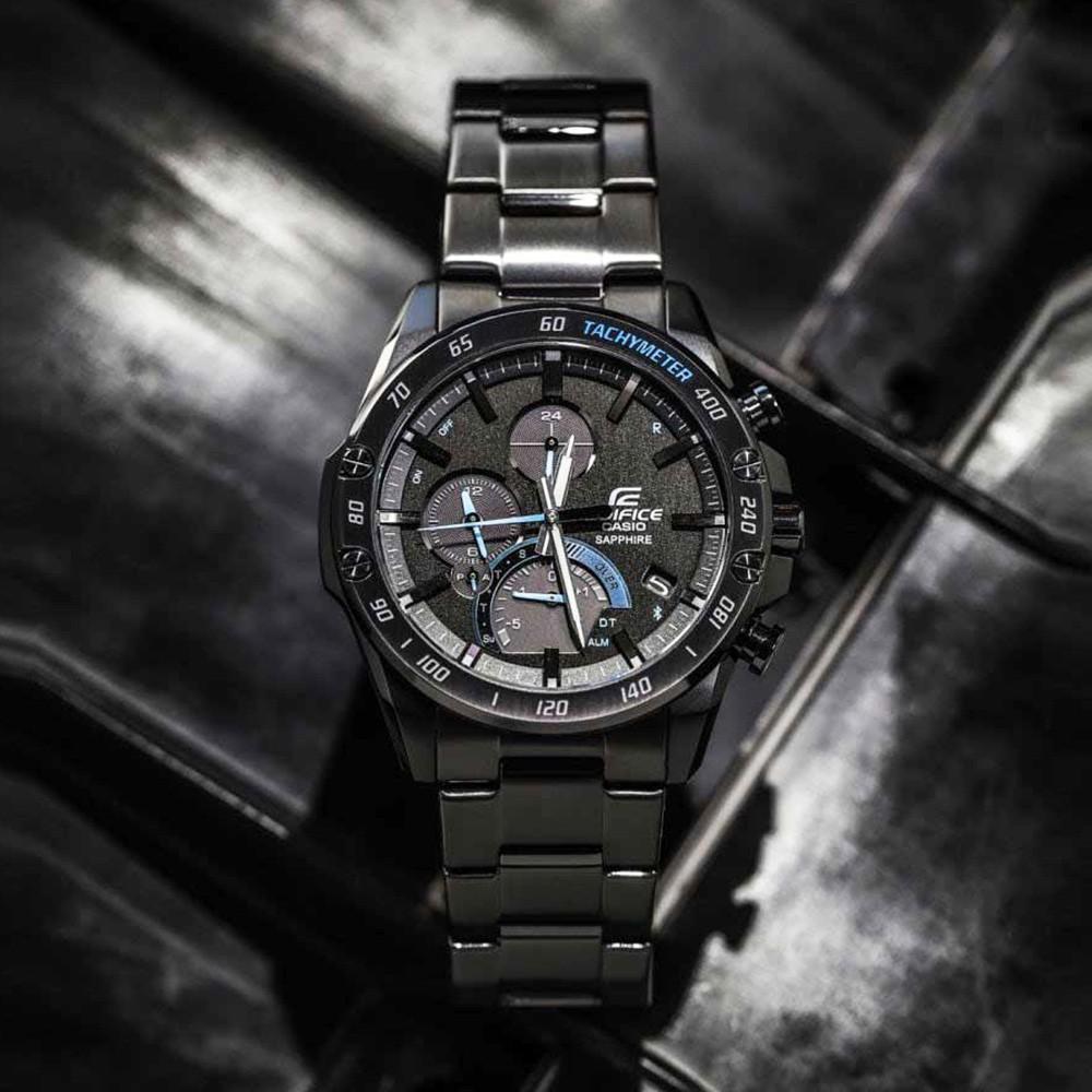 Casio Edifice Smartphone Link นาฬิกาข้อมือผู้ชาย สายสแตนเลส รุ่น EQB-1000XDC-1ADR สีดำ 3Fq5