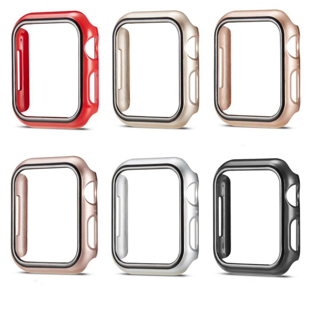 กล่องเคสป้องกันนาฬิกา Apple Watch Iwatch 4/5/3/2/1 กล่องใส่นาฬิกา Apple Watch PC ครึ่งเคส 40/44/38/42 มม 40mm 44mm 38mm 42mm casing cover case