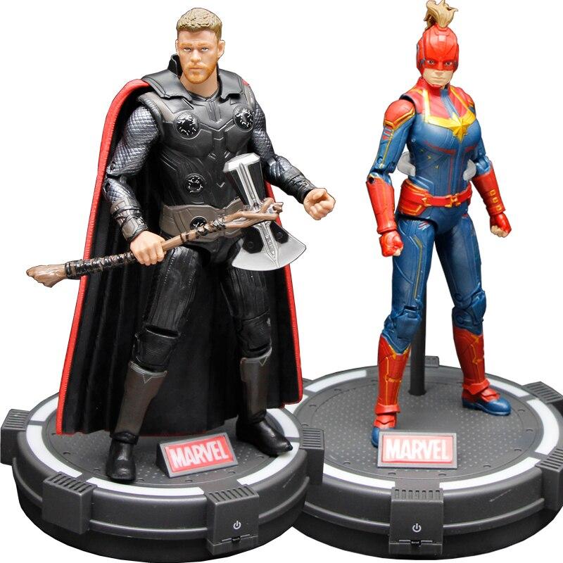 17ซม.-18ซม.Marvel Action Figure Avengers: endgame Thor กัปตัน Marvel Action Figure Action PVC Collection ของเล่นรูป