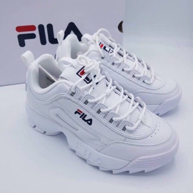 Fila Disruptor 2 white แท้ 💯% รองเท้าผ้าใบหญิง รองเท้าวิ่ง #made in Korea#