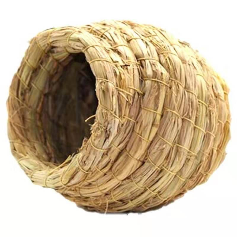 อุปกรณ์สัตว์เลี้ยงนกแก้วทำมือรังหญ้ารังนกกล่องเพาะพันธุ์เสือผิวดอกโบตั๋นแมนนกทำรัง