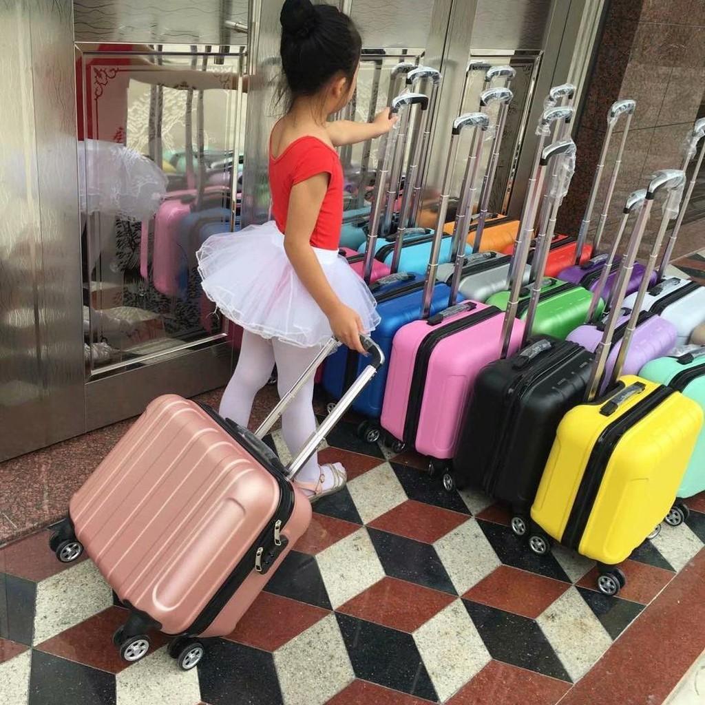 ❐❣❀กระเป๋าเดินทางล้อลากสำหรับเด็กแฟชั่นกระเป๋าเดินทาง 14 นิ้วกระเป๋าเดินทางหญิง 16 นิ้วกระเป๋าเดินทางขนาดเล็ก 18 นิ้วล้