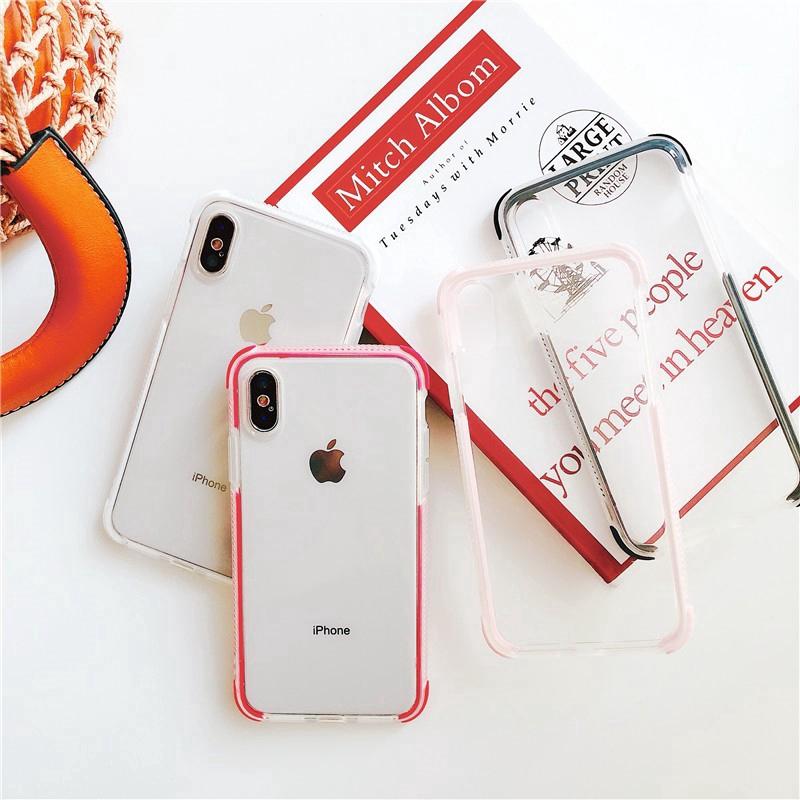 [พร้อมส่ง] เคสโทรศัพท์มือถือแบบขอบสองสีสําหรับ iphone 6/6s/6sp/se/7/7p/8/8p/x/xr/xs max/11 pro max
