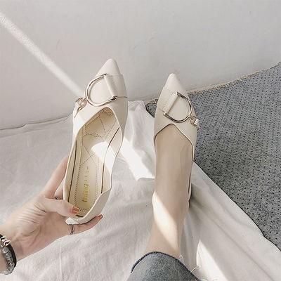 ❤️รองเท้าคัชชูผู้หญิงพื้นยางนิ่ม ใหม่รองเท้าผู้หญิงรองเท้าส้นแบนหัวแหลมสไตล์เกาหลี