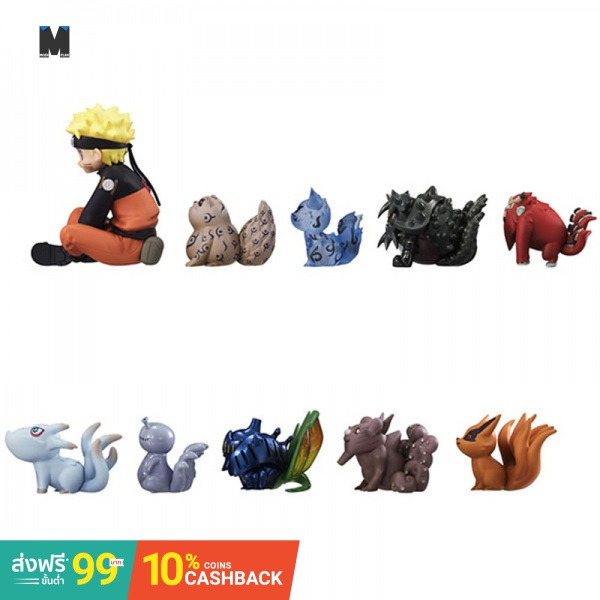 (In Stock)10PCS Naruto Q Version 10 Styles Nine Tail Demon Fox Garage Kit Vinyl Doll Action Figure PVC Model Collection