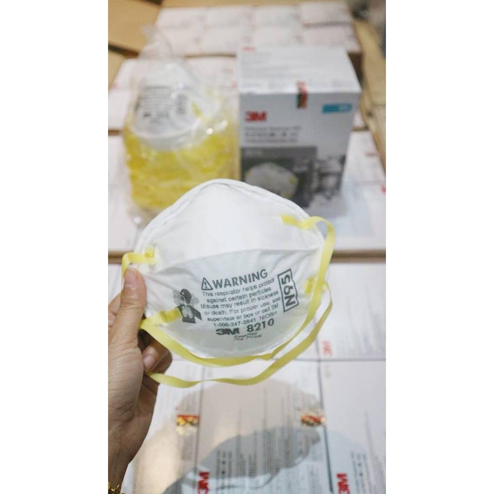 △3M 8210 หน้ากาก N95 กรองฝุ่น PM 2.5 (ราคาพร้อมส่ง 20ชิ้น)