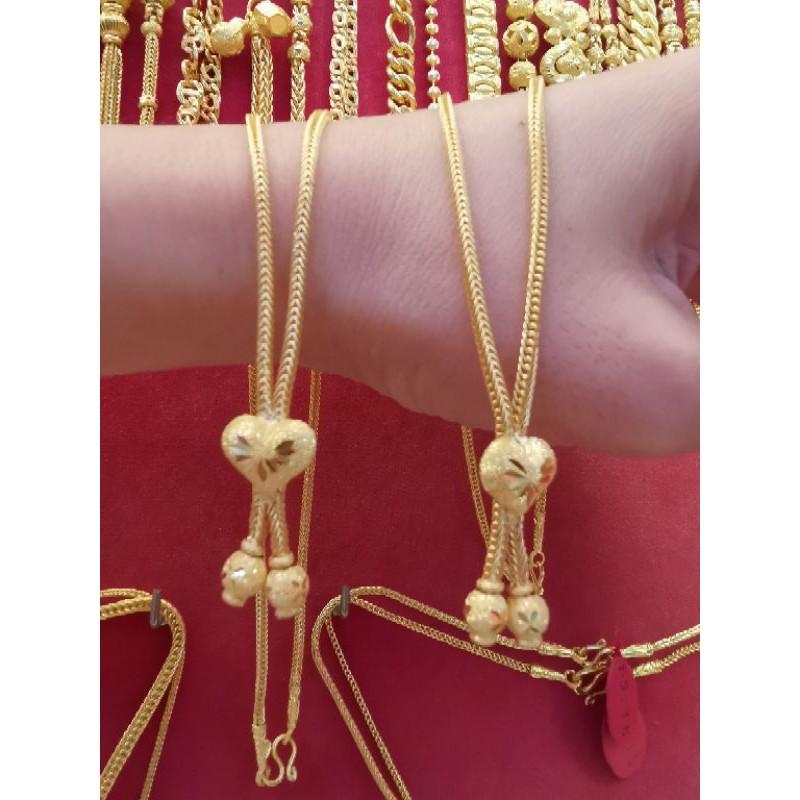 สร้อยคอทองแท้ 96.5%  น้ำหนัก 2 สลึง ความยาวไม่รวมจี้ 22.5cm ราคา 15,750บาท