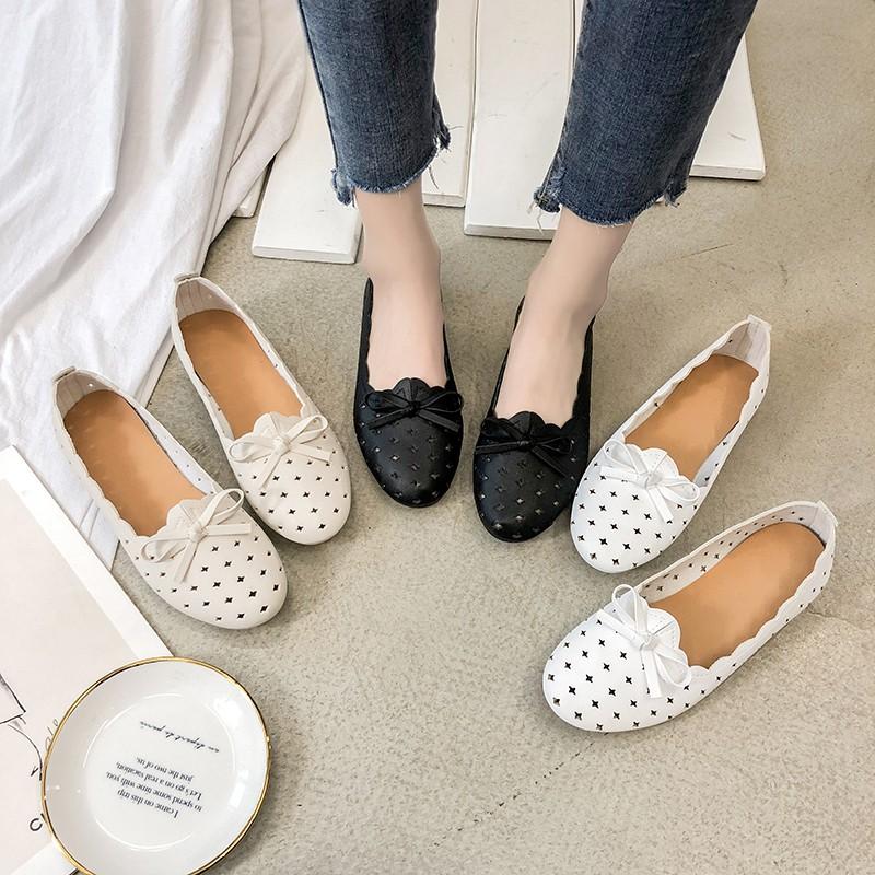 2019 รองเท้าคัชชู รองเท้าคัทชูผู้หญิง รองเท้าคัชชูผู้หญิง รองเท้าส้นแบน mom loafers