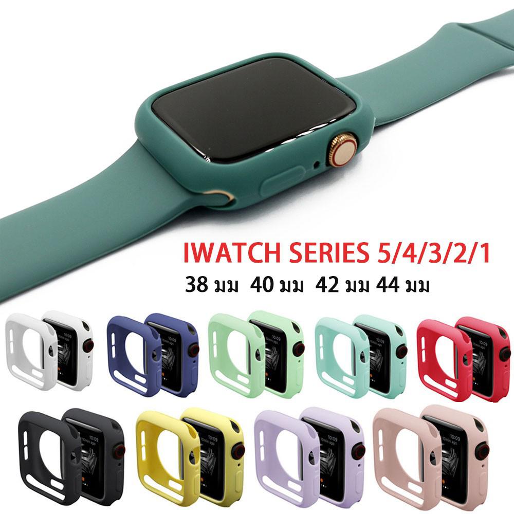เคสซิลิโคน สีพาสเทล สำหรับ Apple Watch 38 มม 40 มม 42 มม 44 มม series 6 se 5 4 3 2 1 สายเคส applewatch