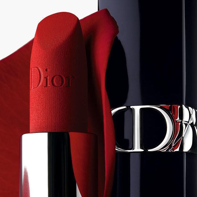 ▪✈♨New Dior/Dior Lit Blue Gold Lipstick Lipstick New Color Velvet 999 Legendary True Red Matte Moisturizing