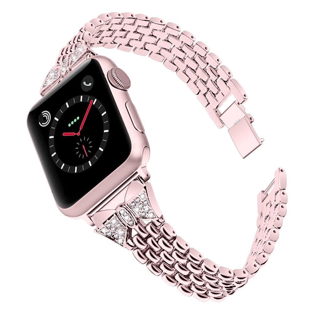 สายนาฬิกาข้อมือสแตนเลสสําหรับ apple watch series 5 4 3 2 1 band watch band 44 มม. 40 มม. Kptn