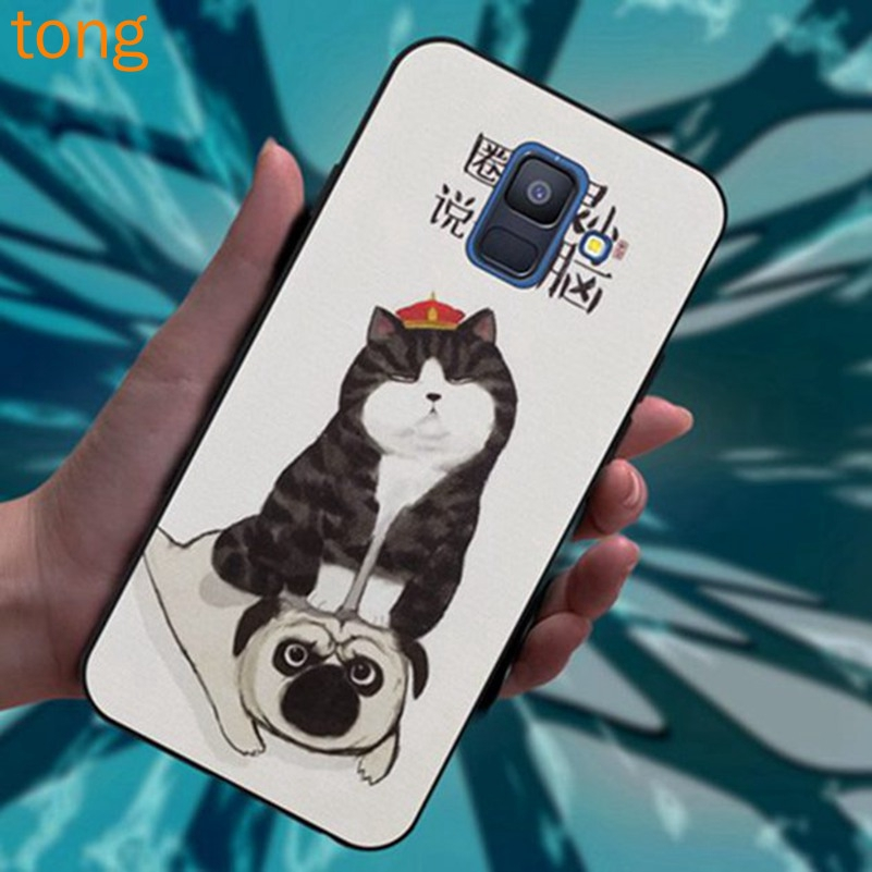 Samsung J2 Note 3 4 5 8 9 A5 A6 A8 A9 Star Pro Plus 2018 Cats and dogs Silicon Case