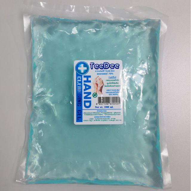 เจลล้างมือ alcohol gel 1000ml. ฟรีขวดเมื่อสั่งซื้อ3ถุง