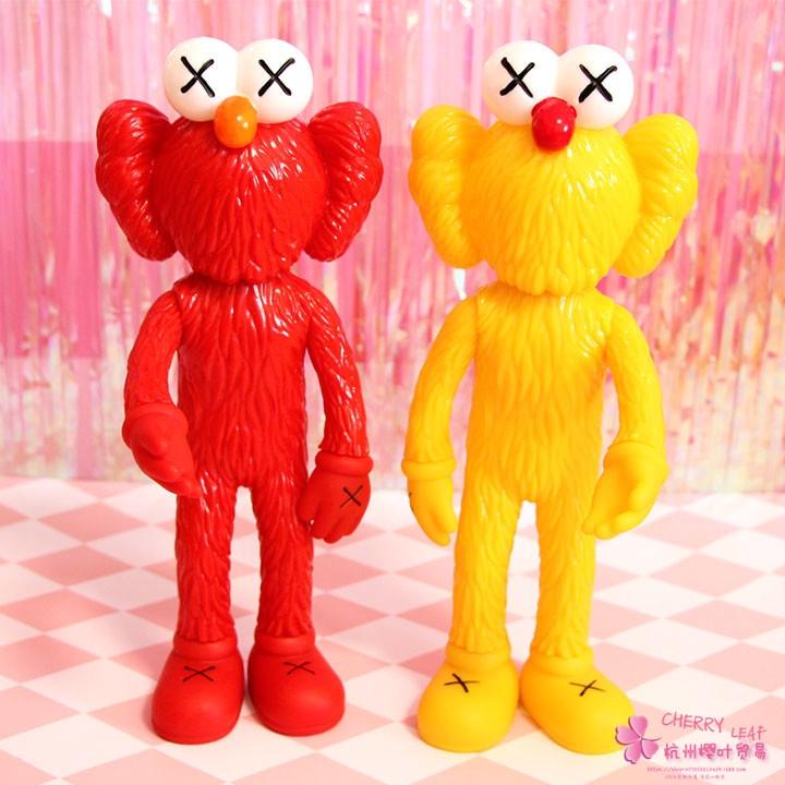 30cm KAWS Thailand Bangkok Exhibition Sesame Street BFF Plush Doll Collections