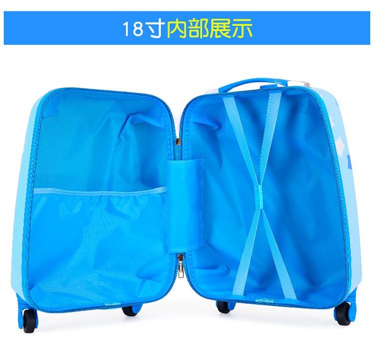 ヵ♥ กระเป๋ารถเข็นเดินทาง กระเป๋าเดินทางพกพา กระเป๋าเดินทางเด็ก กระเป๋าเดินทางเด็กล้อลาก 18 นิ้วสำหรับเด็กผู้ชายและเด็กผู้