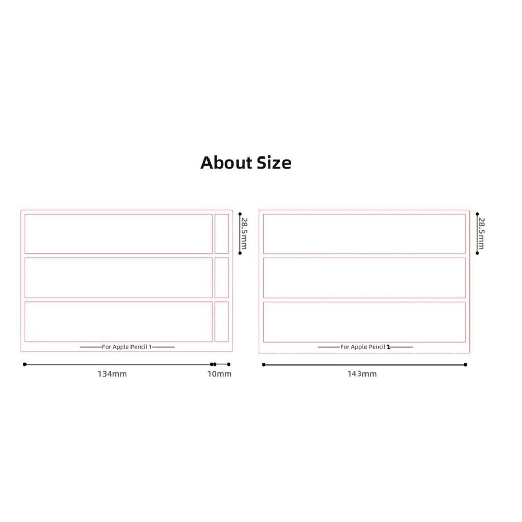 ✨ ✨ 🌻✲❃☄[พร้อมส่ง🚗] ฟิล์มปากกา Apple pencil sticker 1/2 set แบบด้านกันลื่น ลายการ์ตูนน่ารัก🌈💗