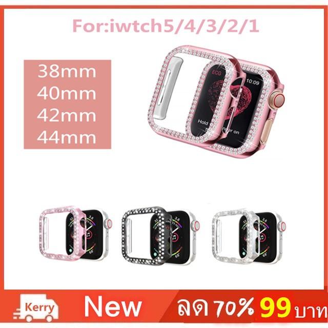 เคส Apple iWatch Series 3 2 1 38 มม. 40 มม. 42 มม. 44 มม.38MM 42MM Case  diamond For iWatch 4 44MM 40MM