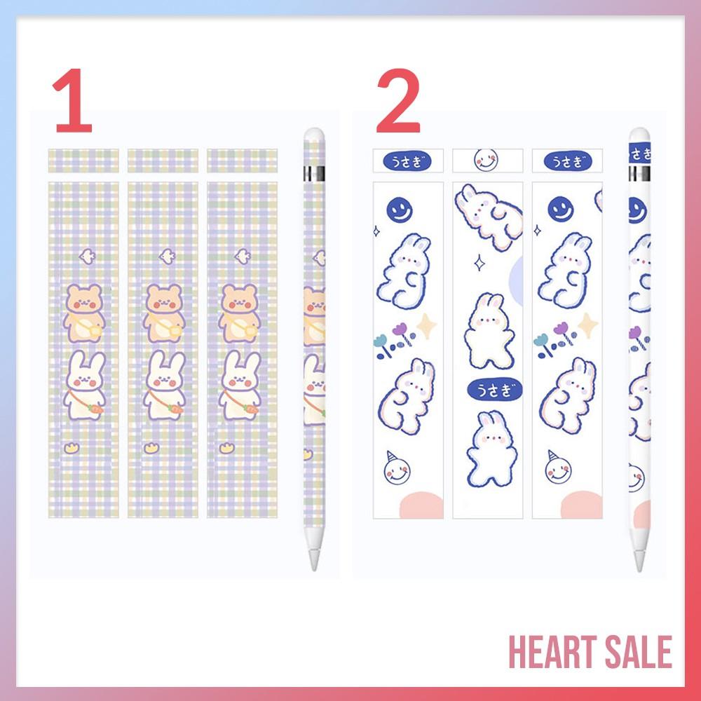👍✅💯✴(พร้อมส่ง!) สติ๊กเกอร์ Sticker Apple Pencil รุ่น 1/2 ( 12 ลายสุดน่ารัก )1