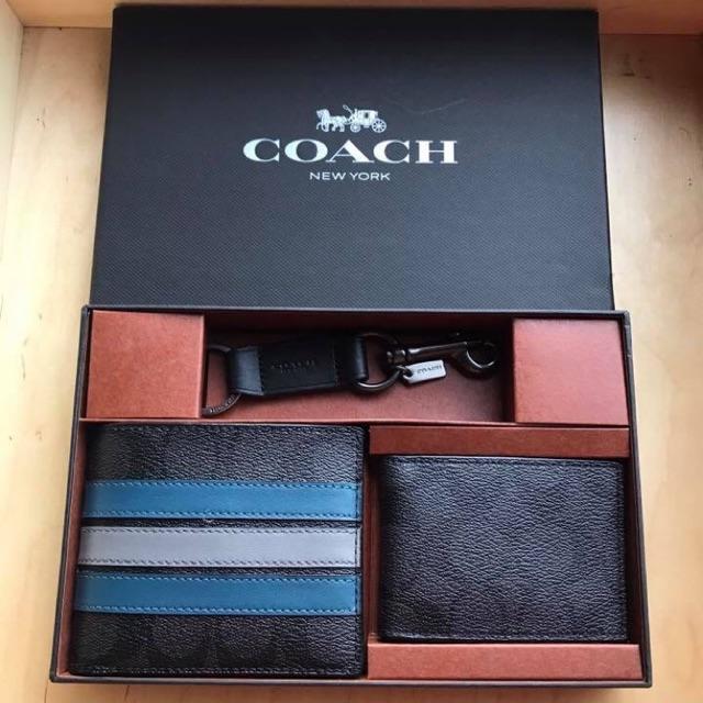 Coach #F37944 ชุดกระเป๋าสตางค์ใบสั้น พร้อมกล่อง มีไส้ถอดออกได้