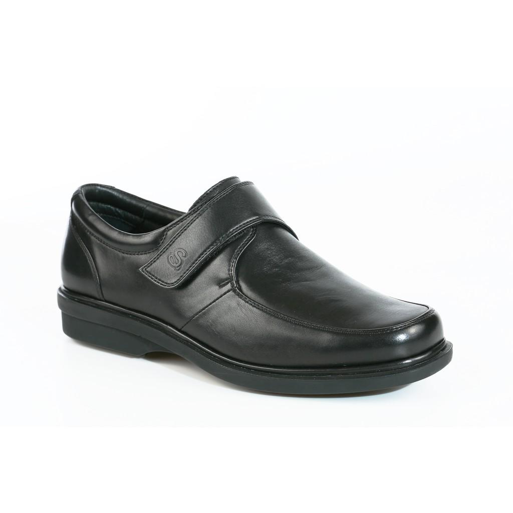 Saramanda รุ่น 117162 Sydney รองเท้าคัชชูผู้ชายหนังแท้ แบบสวม สีดำ