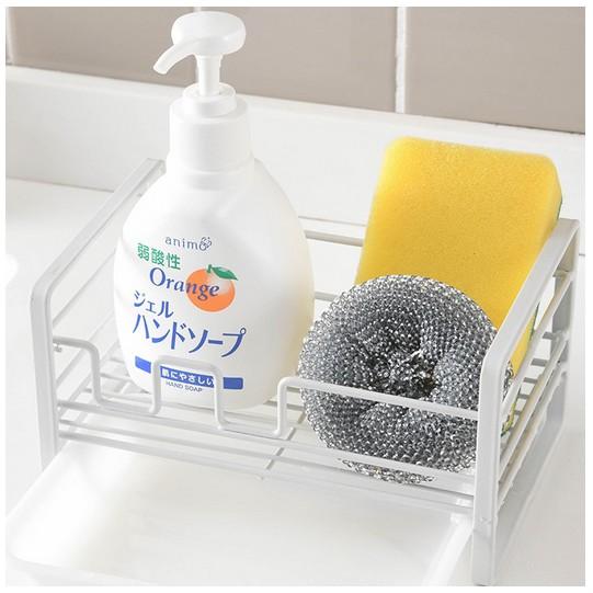 ที่วางฟองน้ำ น้ำยาล้างจาน วางของใช้ แบบ มีถาดรองน้ำ ในครัว/ห้องน้ำ