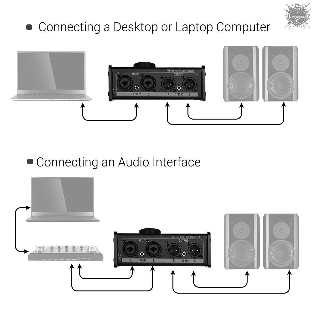 เครื่องควบคุมสัญญาณแบบ passive monitor กับ xlr 3 . 5 มม.