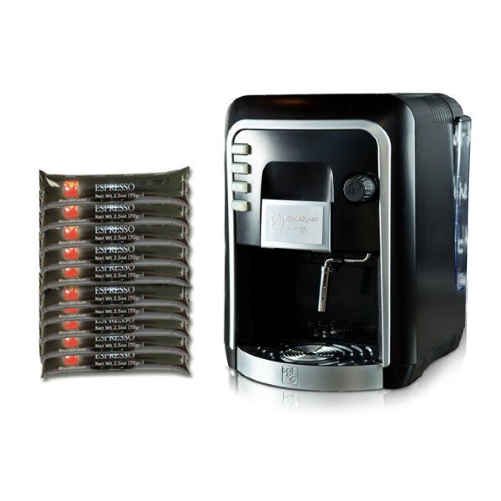 COFFEE ITALY เครื่องทำกาแฟ HAUSBRANDT CAPSY + กาแฟแคปซูล 10 แพ็ค (100 แค็ปซูล) ESPRESSO ( เอสเปรสโซ่)