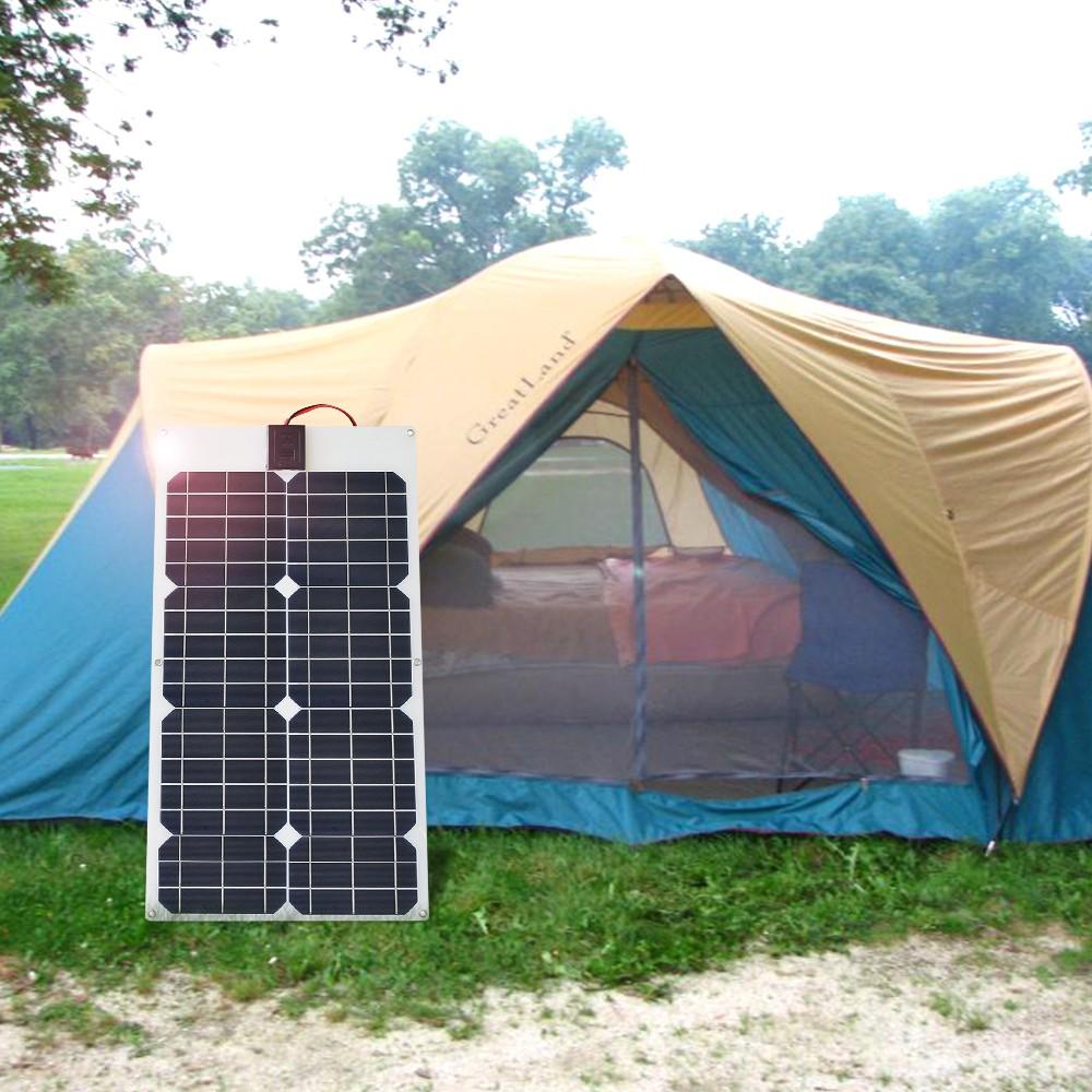 แผงพลังงานแสงอาทิตย์Ramadan 80 W 18 V 24 V 10a Usb + 5 W 12v ไฟ Led สําหรับติดรถยนต์