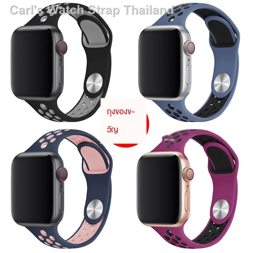 band สาย⊕สายรัดข้อมือ iwatch6 ที่ใช้ได้ NIKE + applewatch สองสีสาย Apple watch iwatch5 / 4/3/2/1 รุ่นอุปกรณ์เสริมสายรั