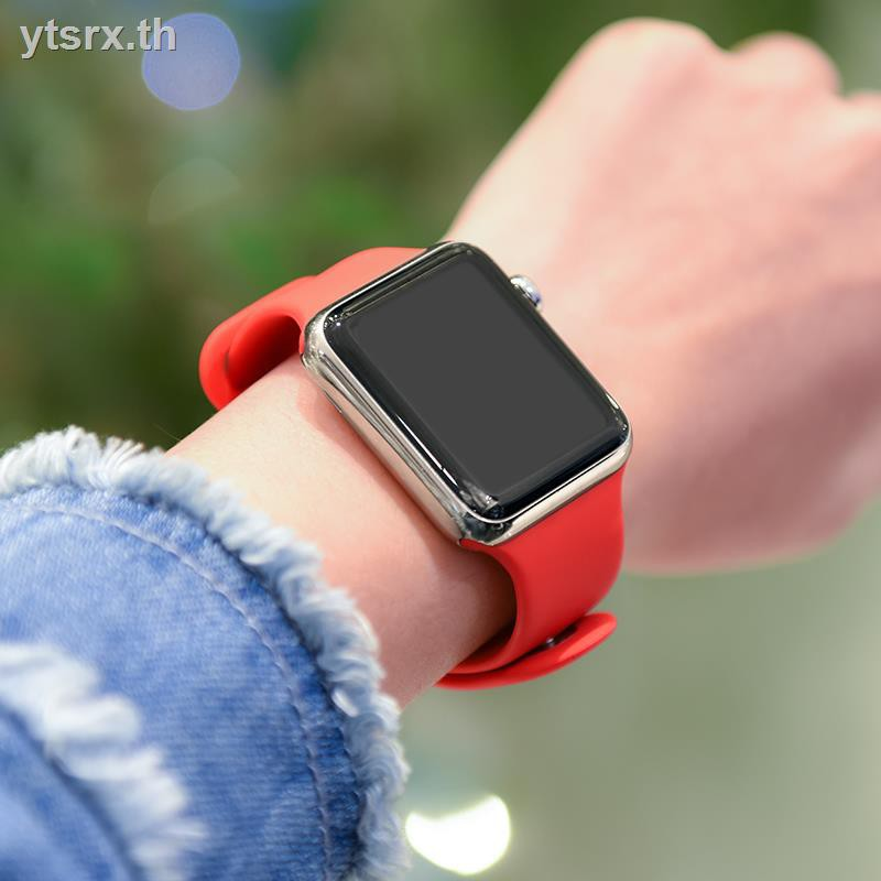 Air podsเคสซิลิโคนอ่อนนุ่มสำหรับเคสAirPods1/2 Case Suitable for Apple Watch Strap Smart iwatch 6th Generation Wristband Applewatch5/SE/4/3 Silicone Sports New Trendy Replacement Band 38/42/40/44mm Men and Women