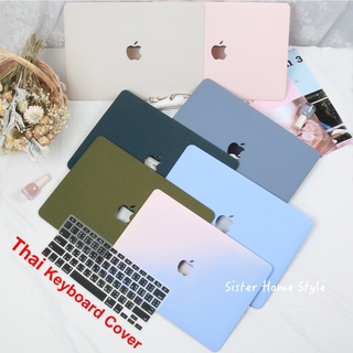 เคส Macbook with free Black Thai Keyboard Cover เคส Macbook Air 2020 Case 11 12 เคส Macbook Pro Case 13 15 2019 2018 2020 With/Out Touch Bar A2289 A2251 A2179 A1707A2159 Macbook Case Protective Hard Cover