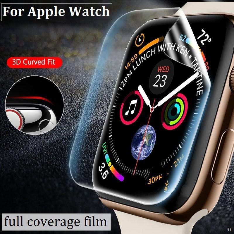☒❃ฟิล์ม เต็มจอ ลงโค้ง โฟกัส สำหรับ AppleWatch Sport Series 1 / 2 3 4 5/6 SE Nike s TPU Film1