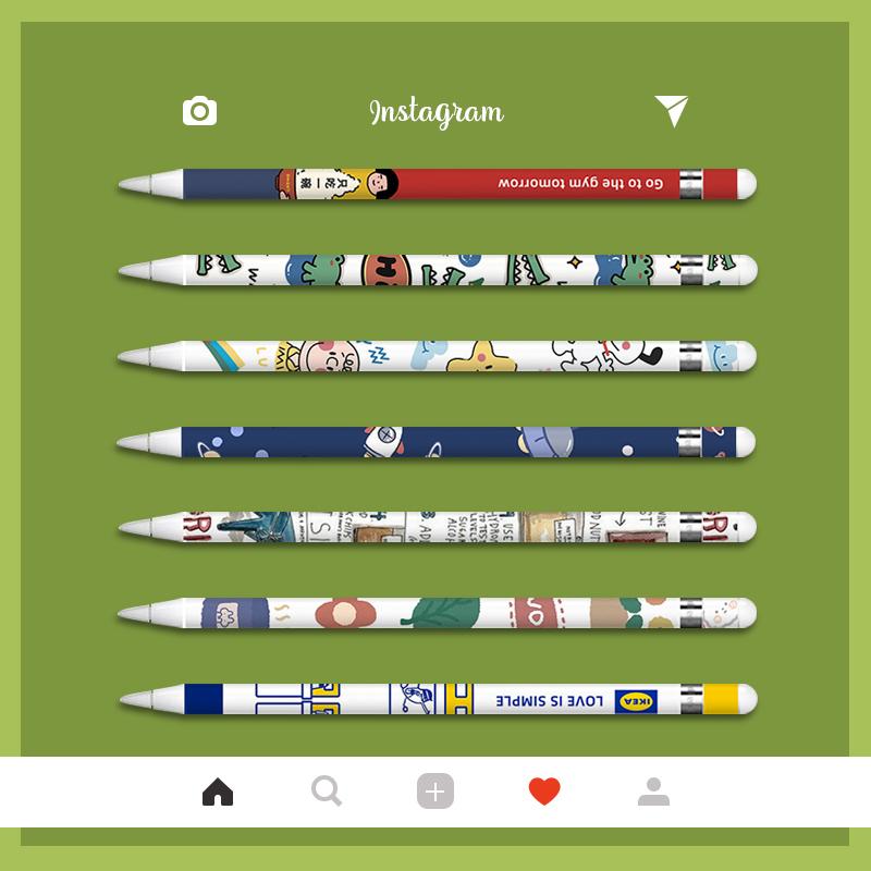 ◆ปากกา ipad◆applepencilสติกเกอร์หนึ่งหรือสองรุ่นปากกาเทปกระดาษpencilการ์ตูนสร้างสรรค์ทาสีฟิล์มป้องกันipadสติกเกอร์ปากกาเ