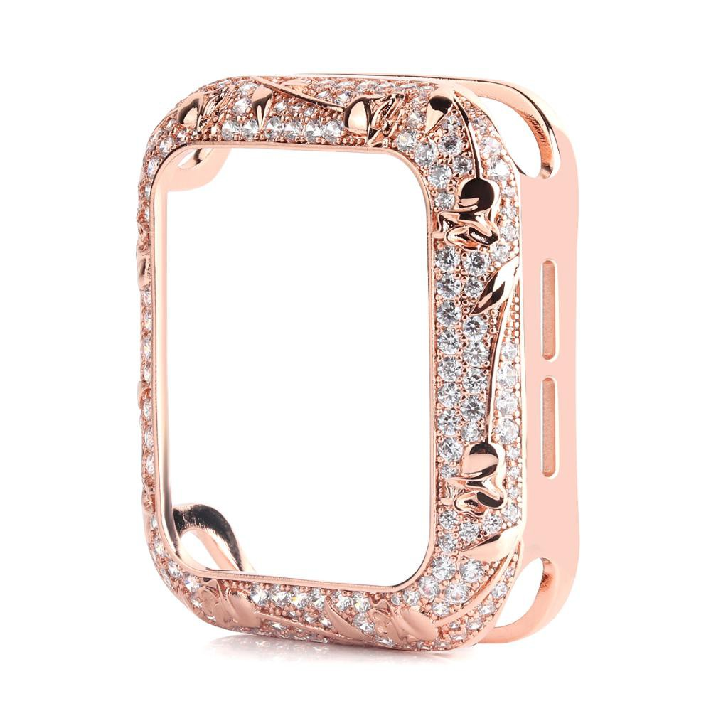 Apple Watch Case Bling Metal Diamond Applewatch Case for iWatchSeries 6/5/4/3/2/1/ Apple watch se Cover YKf5