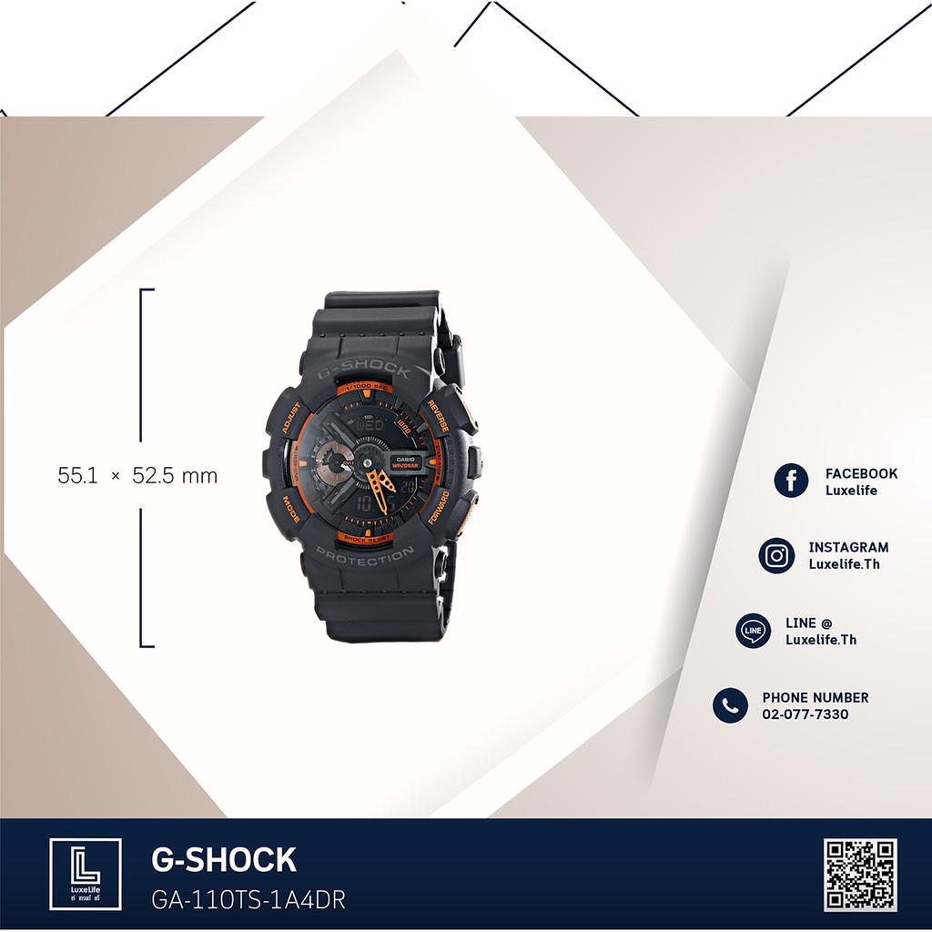 Casio G Shock Ga120 Series Shopee Thailand Ga 110ts 1a4dr Black And Orange Dial With Led Light