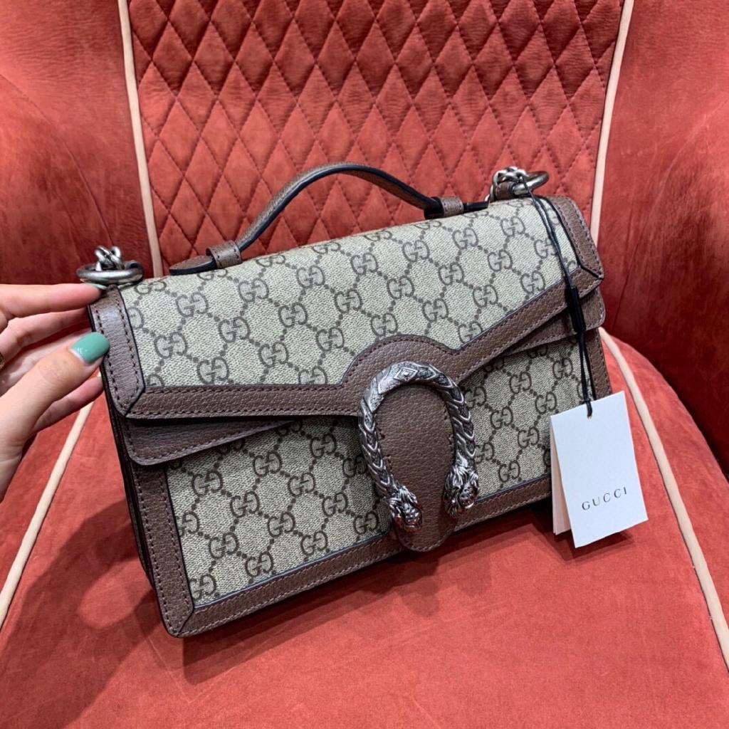*กระเป่า*Gucci กุชชี่ 2020ss Dionysusกระเป๋าถือกระเป๋าสะพายไหล่กระเป๋าเก็บโทรศัพท์หนังแท้แบรนด์เนน