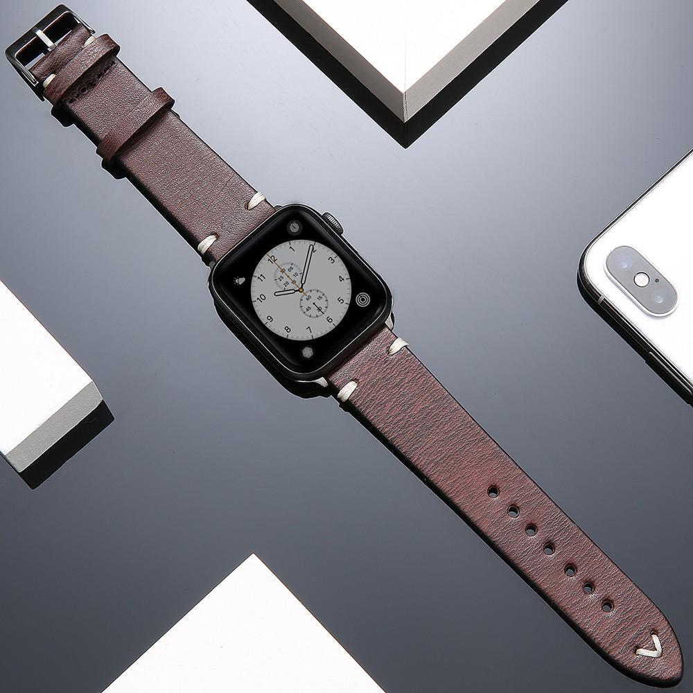 สายนาฬิกาข้อมือหนังแท้สําหรับ Applewatch 6