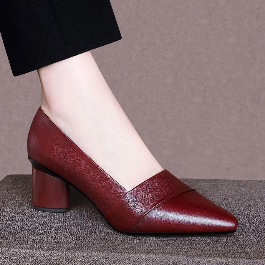 รองเท้าส้นสูง❤️รองเท้าผู้หญิง💖รองเท้าคัชชู💖รองเท้าส้นแก้ว💖รองเท้าคัทชูผู้หญิงรองเท้าส้นสู รองเท้าส้นสูงแฟชั่น  ส้นตัน