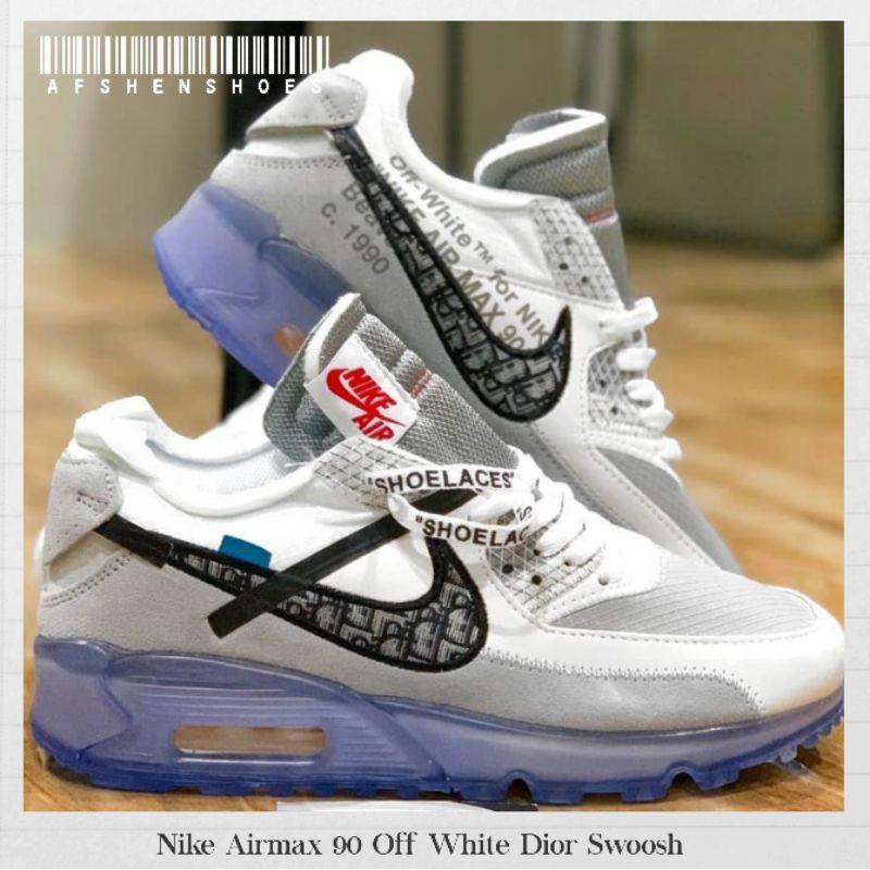 Original Nike Airmax 90 Off White รองเท้าผ้าใบลําลองสีขาว