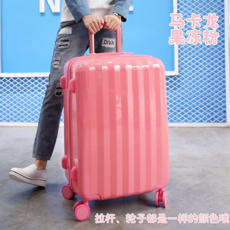 กระเป๋าเดินทางผู้หญิง Ins ลูกอมรถเข็นกระเป๋าเดินทางรหัสผ่าน22นิ้ว20สไตล์เกาหลีกระเป๋าเดินทาง24น่ารักกล่อง1