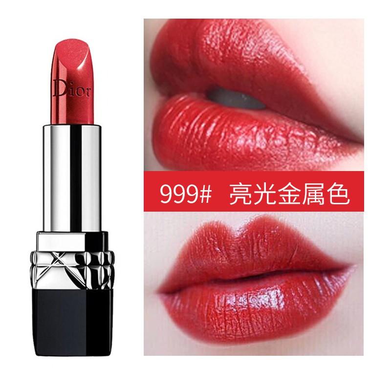 Dior Dior 999 Matte Intense Blue Gold Lipstick ริมฝีปากสีแดงในตำนาน