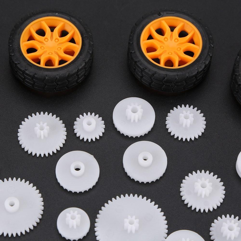 New Gear Set Toy Car Parts Gear Pack Car Wheel//Shaft//Axles//Belts//Worm// Tire//Rack