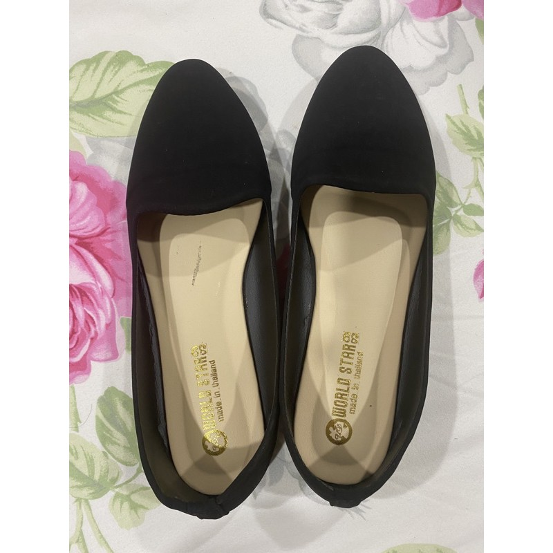 รองเท้าคัชชูสีดำ(หนังกลับ)