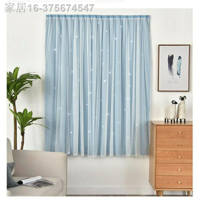 ♗❆✟ผ้าม่านสำเร็จรูปกันแสง UV แบบติดตีนตุ๊กแก ราคาถูกติดตั้งได้เอง ม่านหน้าต่างม่านประตู มี 10 สี ขนาด70*100, 100*100, 10