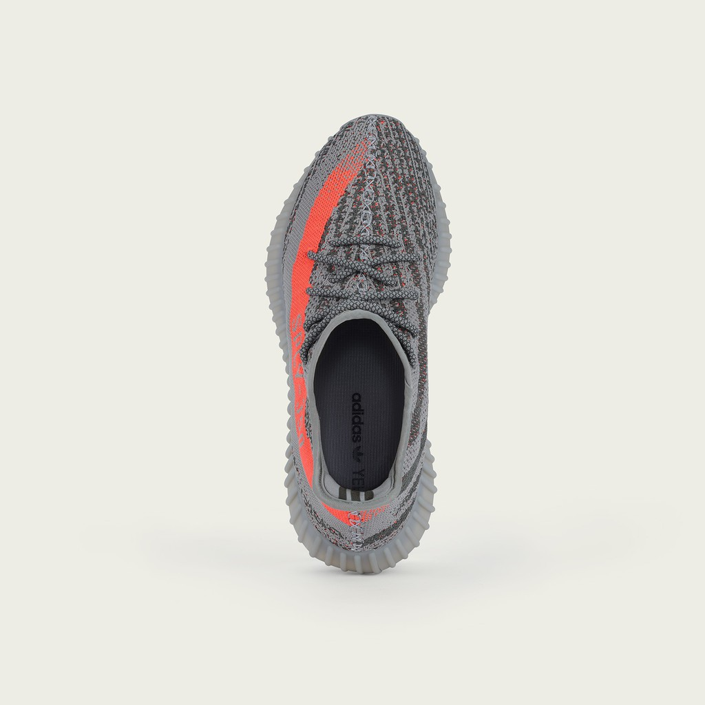 "ของแท้ 100% OG Adidas Yeezy Boost 350 V2 ""beluga"" - Men's Steel Grey - solar Red"