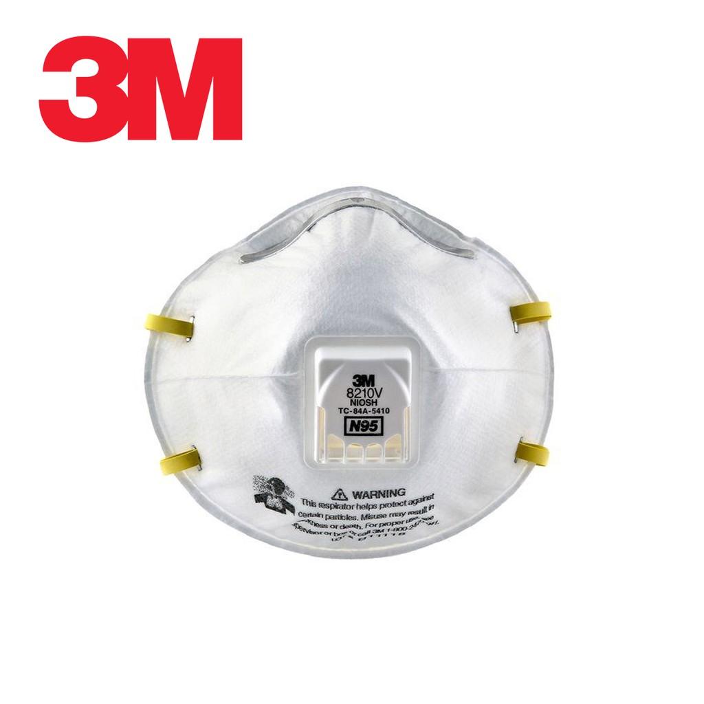 3M หน้ากากป้องกันฝุ่นชนิดมีวาล์ว รุ่น 8210V N95