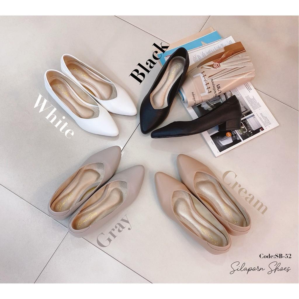 สินค้าพร้อมส่ง!!SilapornShoesรองเท้าคัชชูผู้หญิงSB-52หัวแหลม