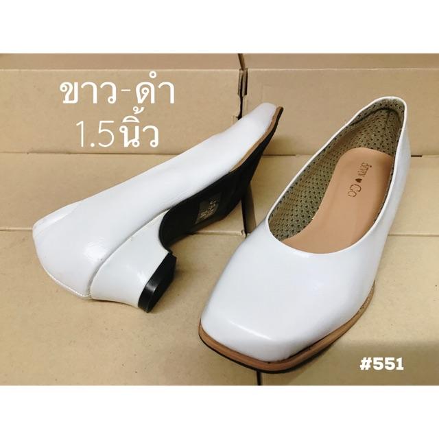 Seven Go รองเท้าคัชชูหนังนิ่มหัวตัด สูง 1.5 นิ้ว รองเท้าทำงาน #551